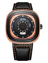 baratos -MEGIR Homens Relógio Esportivo Japanês Quartzo 30 m Impermeável Calendário Legal Couro Banda Analógico Casual Fashion Preta - Preto Laranja Azul