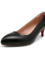 Недорогие -Жен. Обувь Наппа Leather Весна Туфли лодочки Обувь на каблуках На шпильке Черный