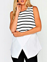 cheap -women's tank top - striped round neck