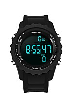 cheap -SANDA Men's Sport Watch Digital Watch Japanese Digital 30 m Water Resistant / Water Proof Calendar / date / day Chronograph Plastic Band Digital Luxury Fashion Black - White Black Golden / Stopwatch
