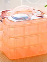 Недорогие -Место хранения организация Ювелирная коллекция пластик Квадратная Многослойный