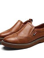 billiga -Herr Bullock Skor Läder Vår / Höst Brittisk Loafers & Slip-Ons Halk Svart / Grå / Brun