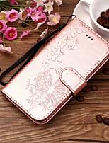 Недорогие -Кейс для Назначение OnePlus OnePlus 6 Кошелек / Бумажник для карт / со стендом Чехол одуванчик Твердый Кожа PU для OnePlus 6