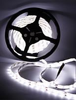 baratos -HKV 5m Faixas de Luzes LED Flexíveis 300 LEDs SMD5630 Branco Quente / Branco Frio Impermeável / Cortável / Conetável 12 V