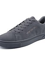 Недорогие -Муж. Комфортная обувь Полиуретан Осень На каждый день Кеды Нескользкий Черный / Серый / Хаки