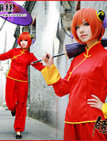 cheap -Inspired by Gintama Gintoki Sakata / Kagura Anime Cosplay Costumes Cosplay Tops / Bottoms Solid Color / Anime Pants / Cheongsam For Women's