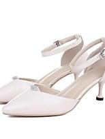 abordables -Femme Chaussures Peau de mouton Eté Confort / Escarpin Basique Chaussures à Talons Talon Aiguille Blanc / Rose