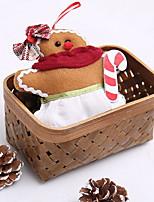 baratos -Enfeites de Natal Férias Tecido Quadrada Brinquedo dos desenhos animados Decoração de Natal