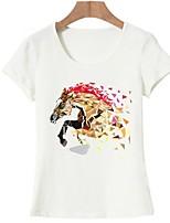 cheap -Women's Basic T-shirt - Animal Print