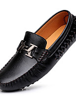 cheap -Men's Cowhide Spring / Fall Moccasin Loafers & Slip-Ons Black / Yellow / Blue