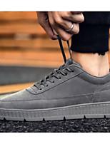 Недорогие -Муж. Комфортная обувь Полиуретан Весна & осень На каждый день Кеды Черный / Серый / Хаки