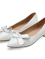 Недорогие -Жен. Обувь Овчина Весна Туфли лодочки Обувь на каблуках На шпильке Белый / Черный