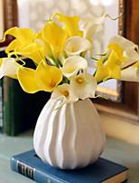 baratos -Flores artificiais 8.0 Ramo Clássico / Solteiro (L150 cm x C200 cm) Estiloso / Pastoril Estilo Lírios Flor de Mesa