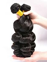 abordables -3 offres groupées Cheveux Indiens / Cheveux Mongoliens Ondulation Lâche Non Traités / Cheveux humains Cadeaux / Costumes Cosplay / Tissages de cheveux humains 8-28 pouce Tissages de cheveux humains