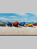 economico -Hang-Dipinto ad olio Dipinta a mano - Paesaggi / Natura morta Modern Tela