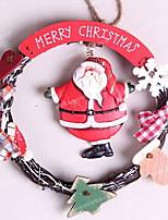 abordables -Décorations de Noël Vacances En bois Rond en bois Décoration de Noël