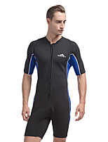 cheap -Men's Shorty Wetsuit 2mm SCR Neoprene Diving Suit UV Resistant, Stretchy Short Sleeve Patchwork Autumn / Fall / Spring / Summer