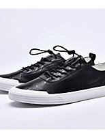 Недорогие -Муж. Комфортная обувь Микроволокно Весна & осень На каждый день Кеды Белый / Черный / Красный