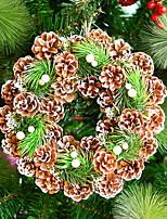 Недорогие -Гирлянды / Рождественские украшения Праздник деревянный Круглый деревянный Рождественские украшения