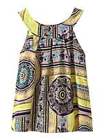 economico -Bambino / Bambino (1-4 anni) Da ragazza Monocolore Senza maniche Vestito