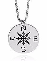 cheap -Men's Coin / Prince Of Wales Pendant Necklace / Chain Necklace - Letter, Pointer Unique Design, European, Inspirational Silver 50 cm Necklace 1pc For Street, Going out