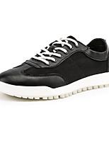 Недорогие -Муж. Комфортная обувь Искусственная кожа / Полиуретан Осень На каждый день Кеды Нескользкий Белый / Черный