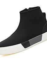 Недорогие -Муж. Полотно Осень Удобная обувь Кеды Черный / Красный