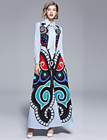 cheap -Women's Boho / Street chic Swing Dress - Abstract Print