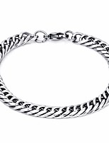 cheap -Men's Cuban Link / Thick Chain Bracelet - Titanium Steel Creative, Peace Simple, Basic, Casual / Sporty Bracelet Silver For Daily / Club