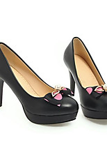 Недорогие -Жен. Балетки Искусственная кожа Весна Обувь на каблуках На шпильке Закрытый мыс Черный / Синий