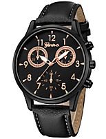 cheap -Men's Women's Dress Watch Wrist Watch Quartz Chronograph Creative New Design PU Band Analog Vintage Casual Black / Brown / Pool - Gold / Black Black / White White / Brown One Year Battery Life