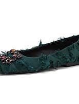 Недорогие -Жен. Обувь Полотно Лето Удобная обувь На плокой подошве На плоской подошве Черный / Зеленый / Розовый