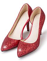 preiswerte -Damen Pumps Kunstleder / Kunststoff Frühling & Herbst Klassisch Hochzeit Schuhe Stöckelabsatz Spitze Zehe Paillette Gold / Silber / Pink / Party & Festivität