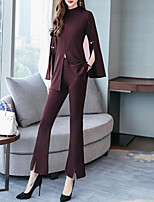 cheap -Women's Street chic / Sophisticated Flare Sleeve Set - Solid Colored Pant