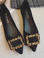 Недорогие -Жен. Комфортная обувь Замша Весна На плокой подошве На плоской подошве Черный / Розовый
