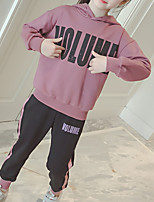 Недорогие -Дети Девочки Классический Геометрический принт Длинный рукав Хлопок Набор одежды