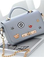 cheap -Women's Bags PU(Polyurethane) Tote Buttons Dark Blue / Gray / Purple