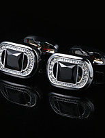 cheap -Geometric Silver Cufflinks Copper / Alloy Simple / Classic Men's Costume Jewelry For Party / Gift