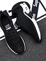 Недорогие -Муж. Комфортная обувь Сетка Весна & осень На каждый день Кеды Черный / Серый / Синий