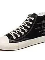 cheap -Men's Canvas Fall Comfort Sneakers White / Black / Red