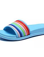 Недорогие -Жен. Комфортная обувь Полиуретан Лето Тапочки и Шлепанцы На плоской подошве Лиловый / Синий / Розовый