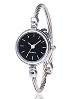cheap -Women's Bracelet Watch Wrist Watch Quartz Casual Watch Alloy Band Analog Fashion Minimalist Black / Silver / Gold - Silvery / White Gold / White Black / Silver