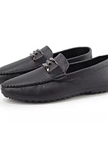 cheap -Men's Moccasin Faux Leather Spring &  Fall Casual Loafers & Slip-Ons Black / Orange