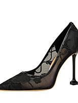 Недорогие -Жен. Обувь Сетка Лето Туфли лодочки Обувь на каблуках На шпильке Черный / Красный / Синий