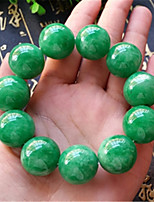 cheap -Men's Jade Classic / Beads Strand Bracelet - Ball Asian, Luxury, Classic Bracelet Green For Carnival / Street
