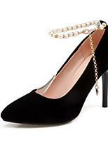 Недорогие -Жен. Обувь Замша Осень Туфли лодочки Обувь на каблуках На шпильке Черный / Красный