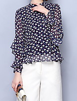 Недорогие -Жен. Большие размеры - Блуза Цветочный принт