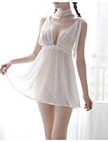 abordables -Nuisette & Culottes / Chemises & Blouses Vêtement de nuit Femme - Dentelle / Dos Nu, Couleur Pleine