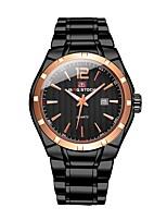 cheap -Men's Sport Watch Quartz Calendar / date / day Stainless Steel Band Analog Casual Black / Silver - Black / Gold Silver / Black Black / White