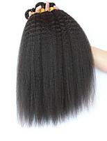 Недорогие -3 Связки Малазийские волосы Вытянутые 8A Натуральные волосы Необработанные натуральные волосы Подарки Косплей Костюмы Головные уборы 8-28 дюймовый Естественный цвет Ткет человеческих волос